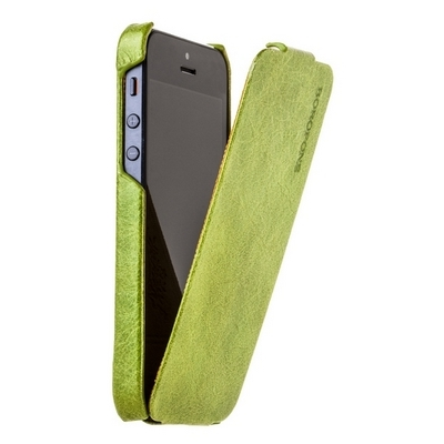 Borofone для iPhone 5 - General flip Leather Case Green
