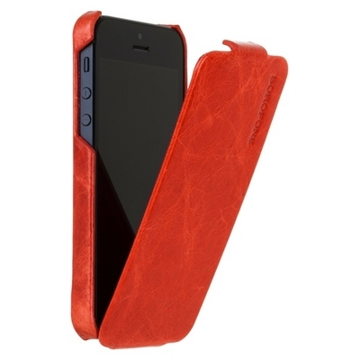 Borofone для iPhone 5 - General flip Leather Case Red