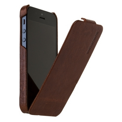 Borofone для iPhone 5 - General flip Leather Case Coffee