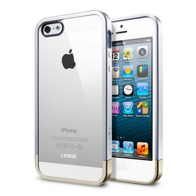 SGP для iPhone 5 - Metal Crystal Silver