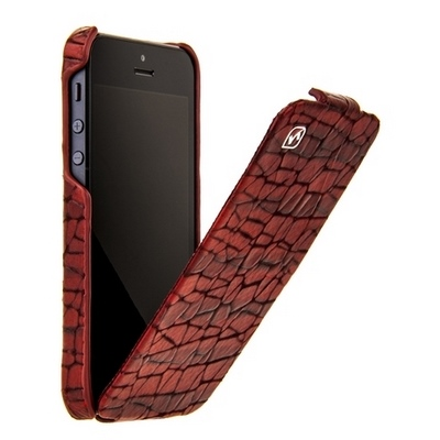 HOCO для iPhone 5 - HOCO Knight Leather Case Wine Red