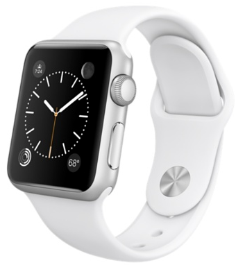 42mm Silver Aluminum Case with White Sport Band