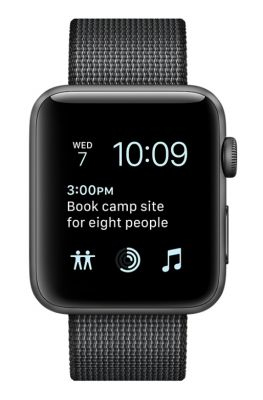 Space Gray Aluminum Case with Black Woven Nylon 42mm
