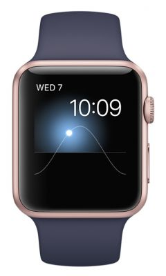Rose Gold Aluminum Case with Midnight Blue Sport Band 42mm