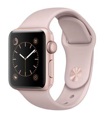 Rose Gold Aluminum Case with Pink Sand Sport Band 38mm