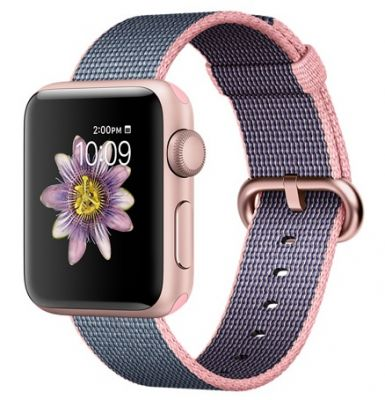 Rose Gold Aluminum Case with Light Pink Nylon 38mm