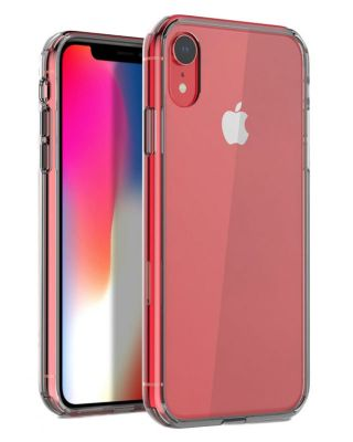 Чехол iPhone XR - Silicone+Plastic Clear